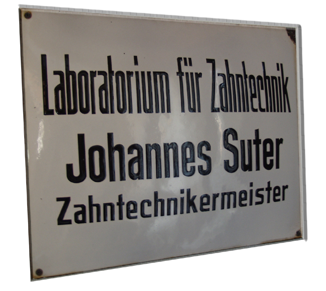 Laborschild Suter Dental Labor